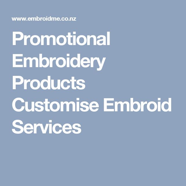 Promotional Embroidery Products Customise Embroid Services