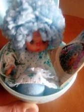 el greco doll patapoufa - vintage vtg 80's doll blue patapoufa egg el greco