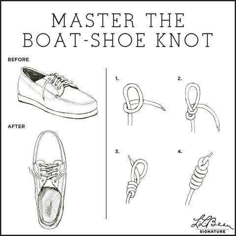 Boat Shoe Knot - Loved this back in middle school on my Sebagos