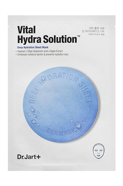 This mask is loaded with hyaluronic acid, which gives skin a much-needed hit of moisture, something particularly important as we approach the cold and dry winter months.Dr. Jart+ Dermask Water Jet Vital Hydra Solution, $6, available at Sephora. #refinery29 http://www.refinery29.com/best-sephora-products-under-15-dollars#slide-6