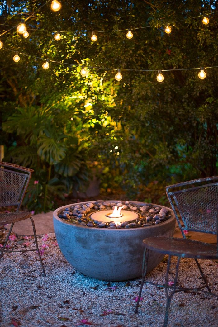 How To Easily Add A Fire Fountain In The Garden. Patio FountainGarden  PondsWater FountainsWater Features