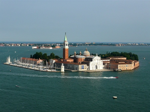 Andrea Palladio: Basilica of San Giorgio Maggiore, Venice; the construction begun in 1566; the façade was completed under the direction of Vincenzo Scamozzi between 1597-1610
