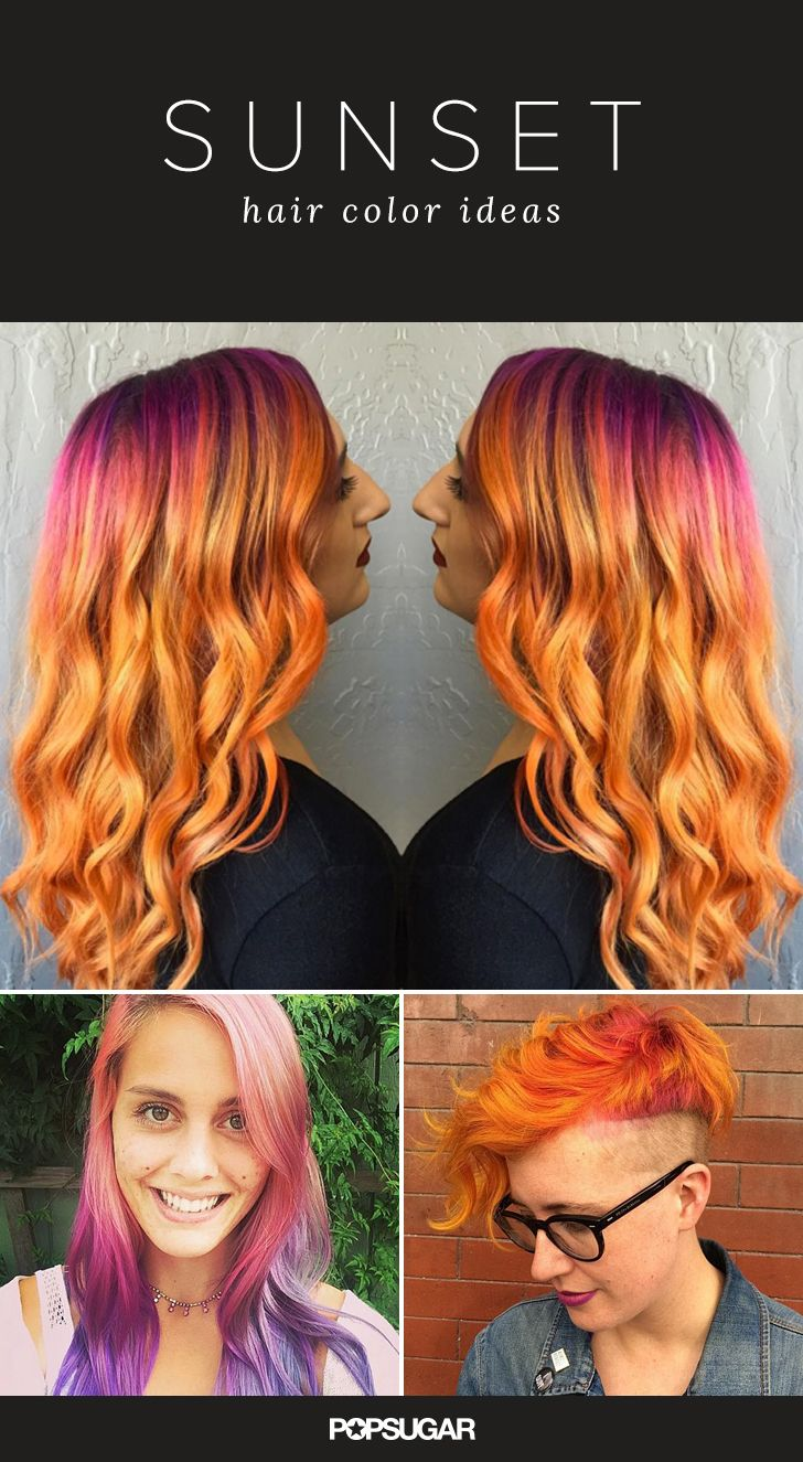 We're approaching the time of year when we feel ready for a vacation. Brisk winds, excessive darkness, and holiday stress have us yearning for sunnier climates. But while we may not have the time (or the funds) to get away right now, we're taking a mental retreat via the latest rainbow hair trend: sunset hair.