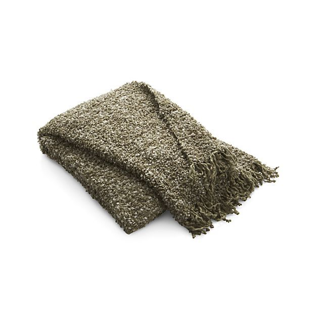 Aubree Natural Throw in Throws | Crate and Barrel