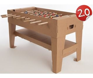 Kickpack | Kartoni 2.0 Football table - brown cardboard