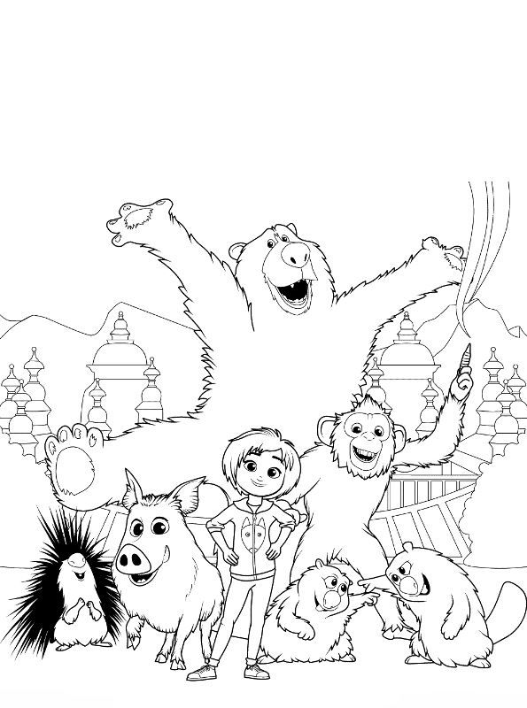Coloring Page Wonder Park Wonder Park 2 With Images Coloring