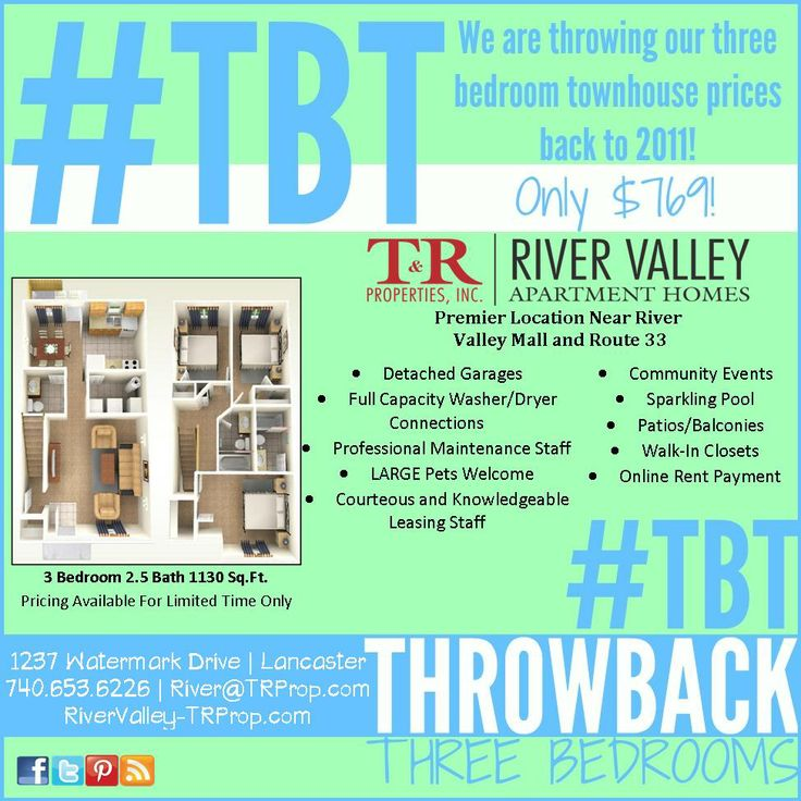 River Valley Apartments In Lancaster Oh Are Throwing Back The Prices On Their 3 Marketing Flyersmarketing Ideasapartment