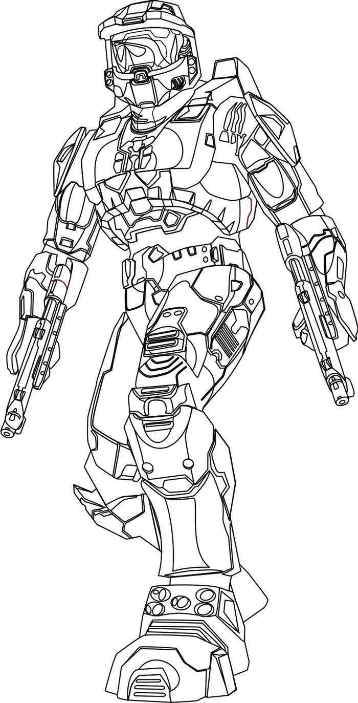 Step 13 Drawing Master Chief from Halo in Easy Steps Lesson