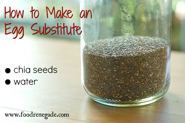 make an egg substitute with chia seeds