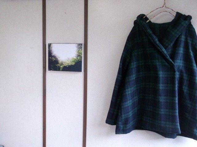 ウールフードコート(ブラックウォッチ) - handmade wear