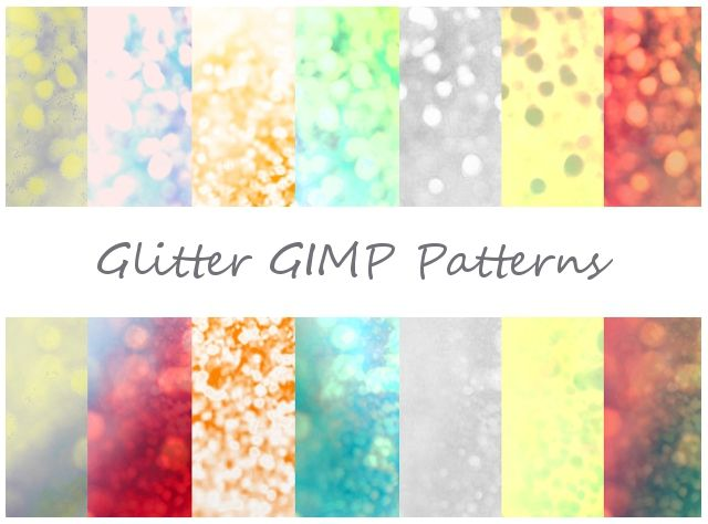 Glitter GIMP Patterns by Jedania