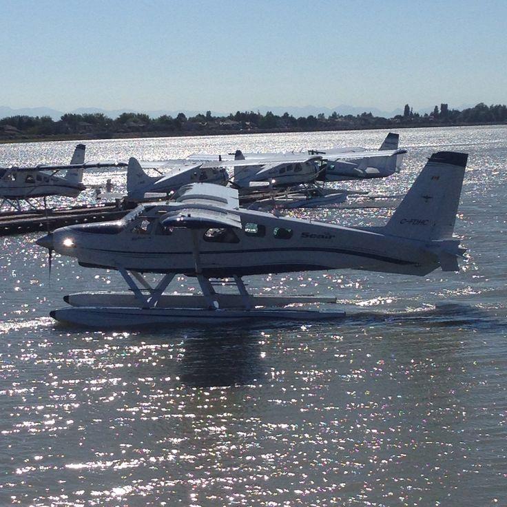 Seair seaplane at YVR harbour