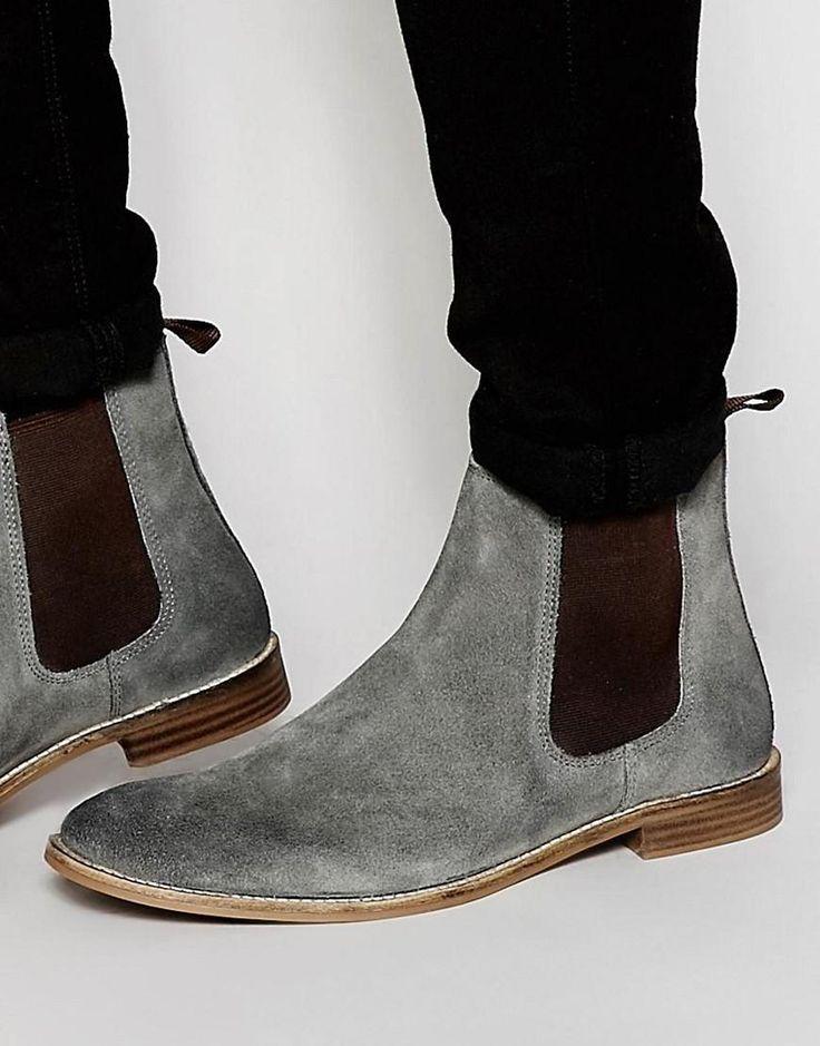 ASOS | ASOS Chelsea Boots in Grey Suede at ASOS