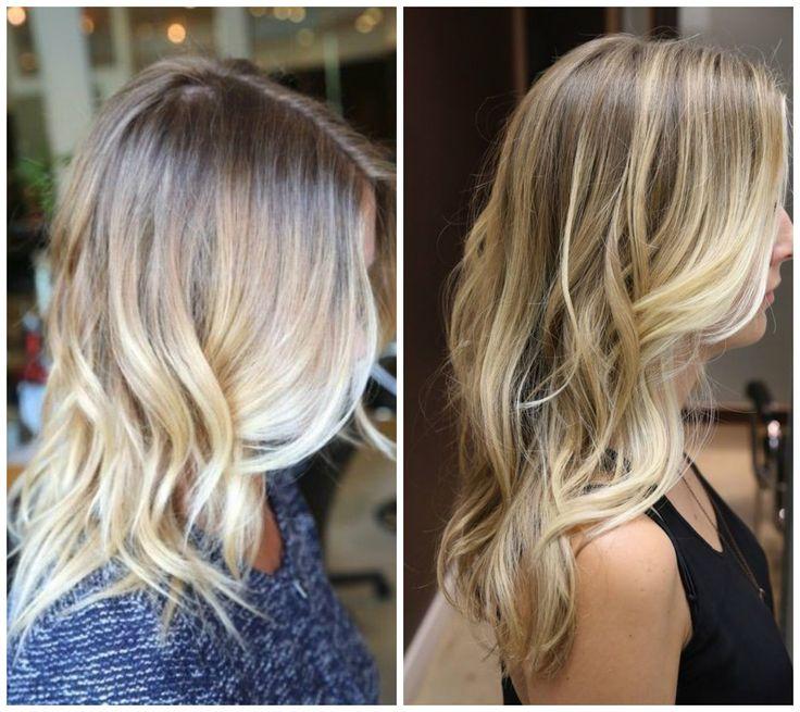 capelli colore biondo con il balayage tendenza 2014