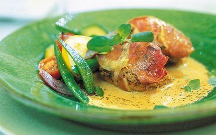 Kyckling med parmaskinka och balsamsås - Recept - Arla