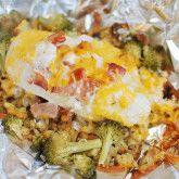Cheese Chicken Hobo Pack – False Ginger   – Foil Dinners