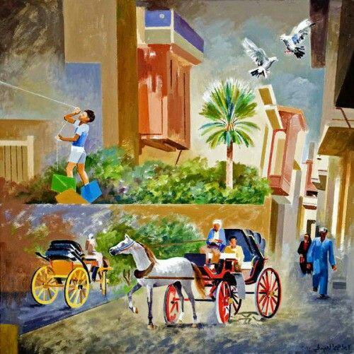 Iraqi artist Ibrahim al-Abdali