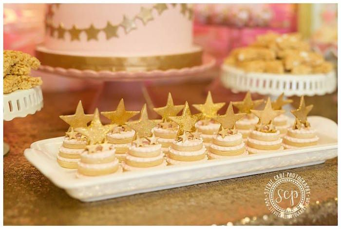Pink + Gold Twinkle Star Party via Kara's Party Ideas KarasPartyIdeas.com (25)
