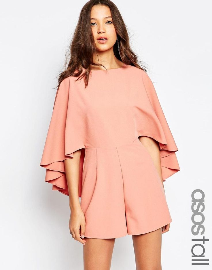 ASOS Tall | ASOS TALL Playsuit with Cape Sleeve at ASOS