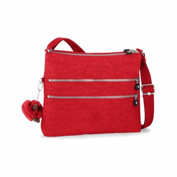 The perfect size for keeping essential close without bulk, this Kipling  Alvar in Tango Red design is a fun yet practical cross-body/shoulder bag!