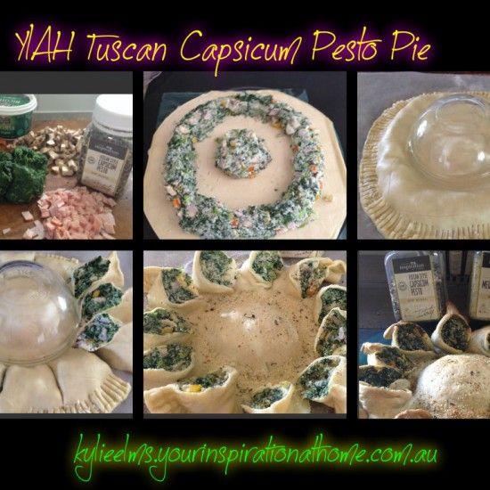 YIAH Tuscan Style Capsicum Pesto Pie