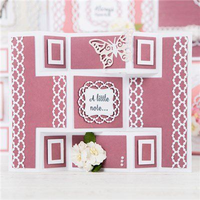 Tattered Lace Essentials Mini Shutter Card, Mini Circle Stepper and Pearl Pin Dot Dies (363619) | Create and Craft