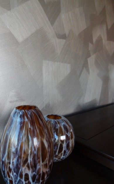 A close up of a Brushed Metal Finish using Warm Silver from the Modern Masters Metallic Paint Collection | By Tobey Renee Sanders of Faux Decor | Modern Masters Cafe Blog