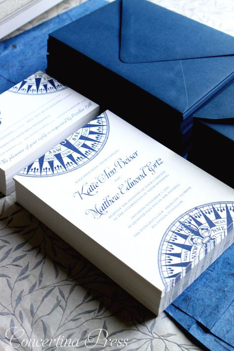 Perfect nautical invites - Compass Wedding Invitations