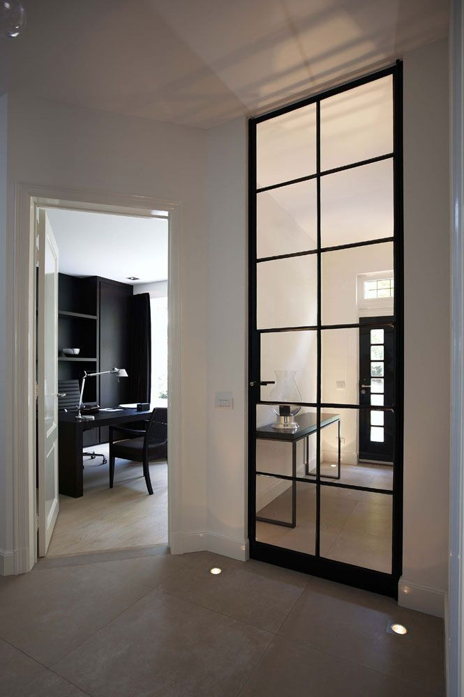 Villabouw Vlassak Verhulst: Dekru iron framed doors taatsdeuren stalen deuren pivot deuren steel doors