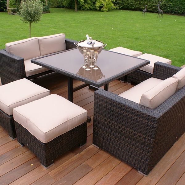 the maze rattan sofa cube set brings a whole to meaning to the term versatile rattan furniture setgarden furniture