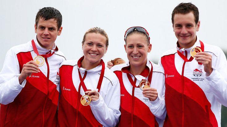 Jonathan Brownlee, Jody Simpson, Vicky Holland and Alistair Brownlee - Triathlete