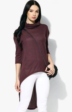 Mexx Purple Women T-Shirt @ Rs 629  Jabong