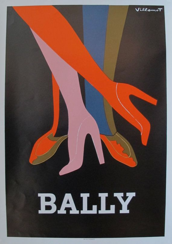 Date: 1979 Size: 16.75 x 24 inches Notes: Poster Artist: Villemot, Bernard  About The Poster: Bernard Villemot was a classic French artist whos work for Bally, Orangina, Bergasol and countless other brands helped propel him - and the brands for whom he worked - into the world-renown artist he is now. In excellent condition, this poster dates from the late 1970s. An excellent example of vintage advertising art - would look great framed, hanging in the bedroom, dressing room, or boudoir!  SEE…