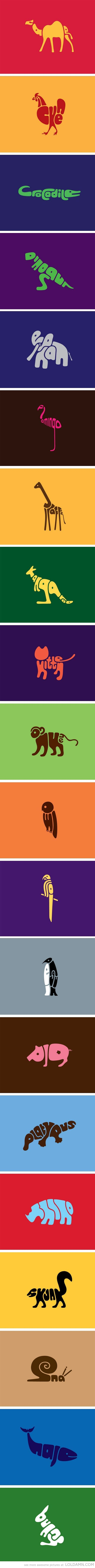 Word Animals- Designer: Dan dan@wordanimals.co.uk  I could totally see these framed in a kids play room.