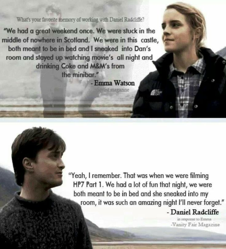 I absolutely ship Harry  and Hermione, BUT I also sort of ship Dan and Emma in real life.  They're adorable.
