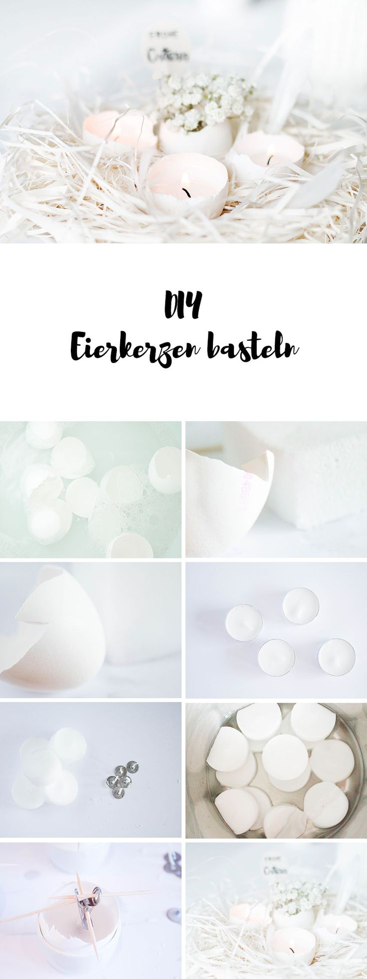 DIY Anleitung für Eierkerzen - Osterdeko selber machen