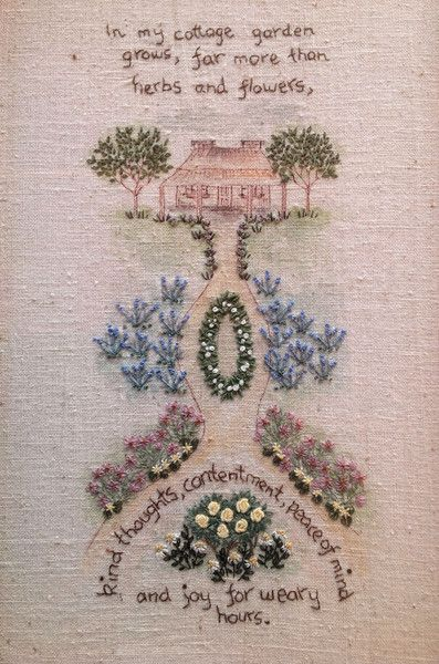 21 best images about cottage gardens on pinterest for Garden embroidery designs free