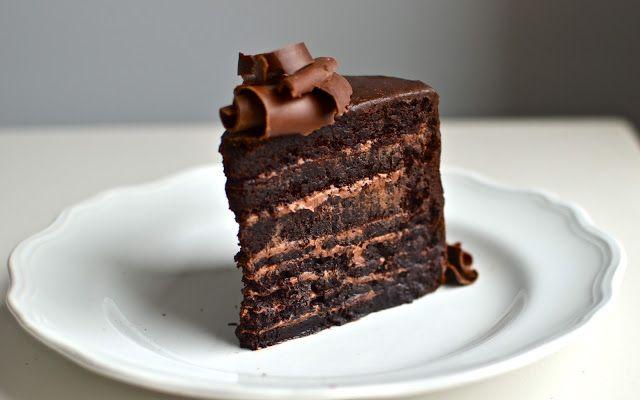 Flourless Chocolate Mountain Cake - gluten free and oh so good - FaveGlutenFreeRecipes.com