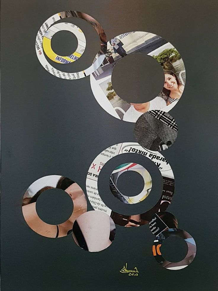 "Saatchi Art Artist Richard Brandão; Collage, ""CIRCLES N° 015"" #art"