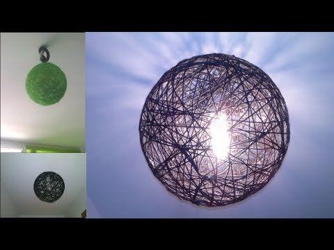 Estás lámparas son muy fácil de hacer solo necesitamos un globo grande, hilo y cola...mira en el tutorial los pasos que debes seguir. Suscribete!! https://ww...