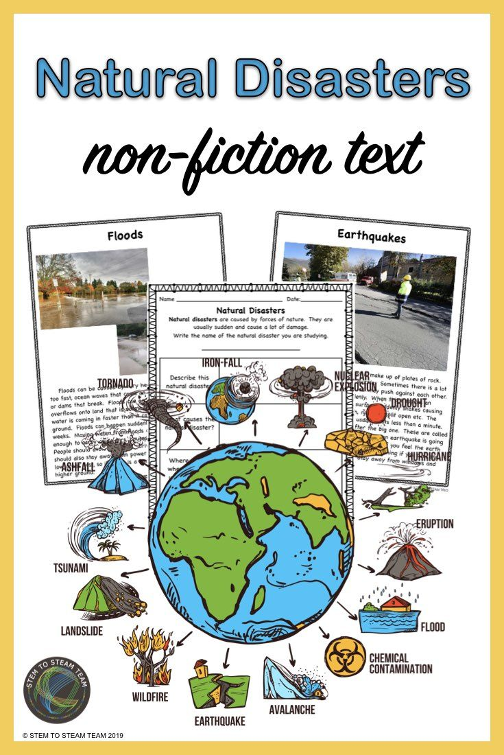 hight resolution of Natural Disasters: Five Informational Reading Passages in PDF and TpT Easel    Informational reading passages