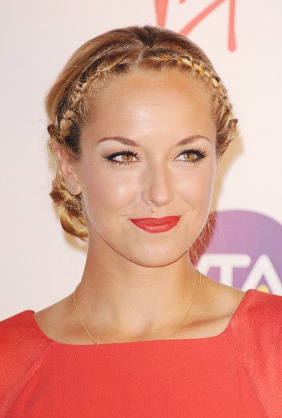 Sabine Lisicki Braided UpDo/Red Lips | For appointments at Stewart & Company Salon, call (404) 266-9696.