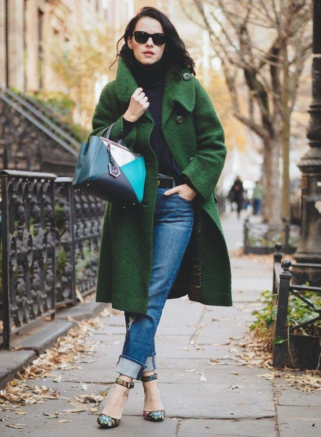 Идея для шоппинга: зеленое пальто 9