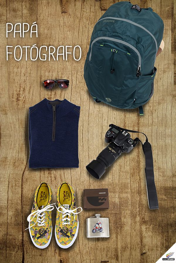 Mochila, Mountain Hardwear - Anteojos, Suntime - Chaleco, Andes Gear - Zapatillas, Vans - Billetera, Billabong - Petaca, Andes Gear