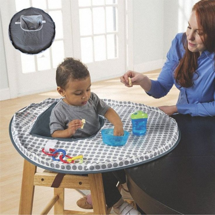 Baby Feeding Chair Cushion 2016 Foldable Waterproof Cloth Protect Infant Eat Dinner Chair For Toddler Booster Table Seats