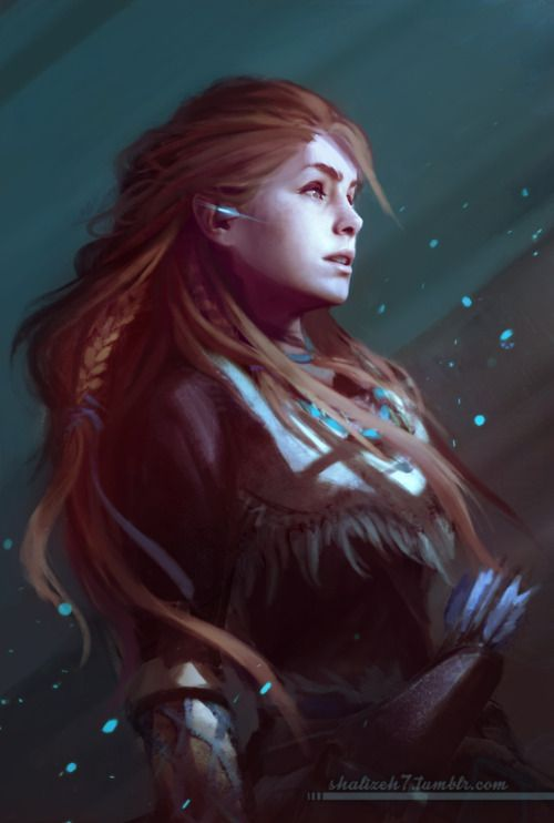 """shalizeh7: """"Aloy from Horizon Zero Dawn. There's a game that makes me want to buy a PS4. """""""