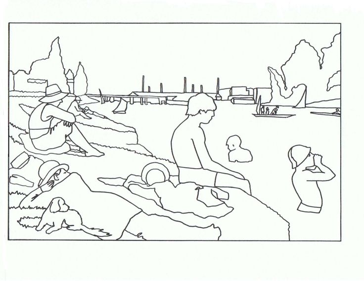 george seurat coloring pages - 101 best images about art camp on pinterest pablo
