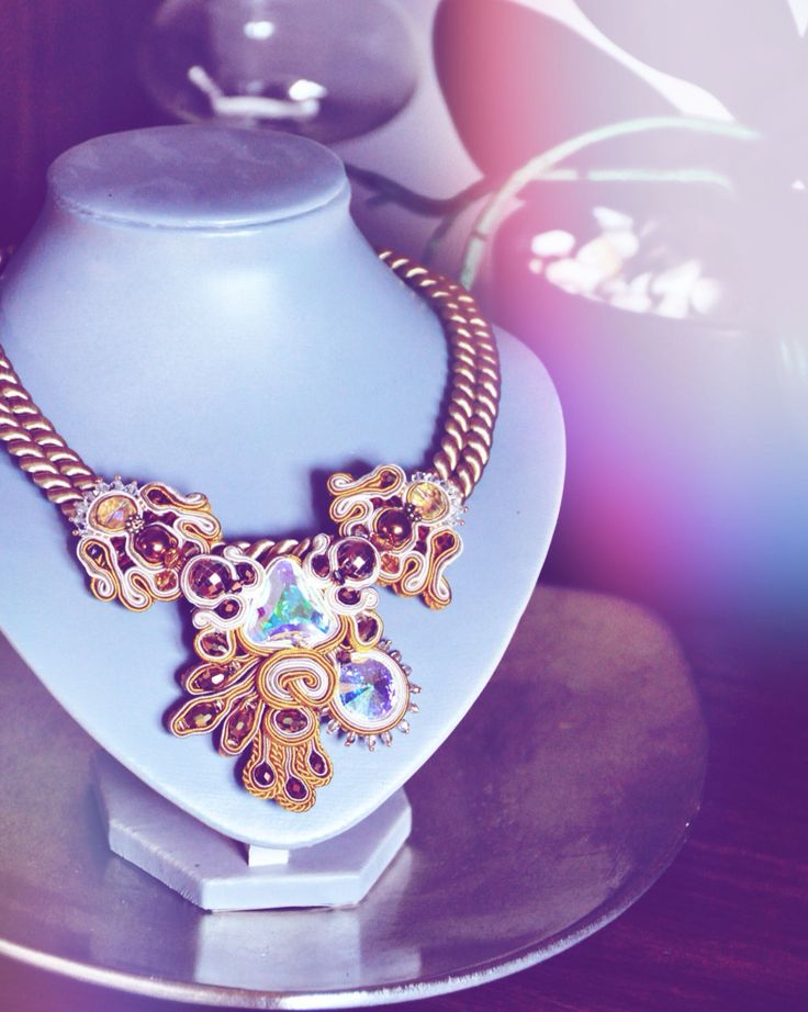 Gold passion #handmade #soutache #necklace #jewelry