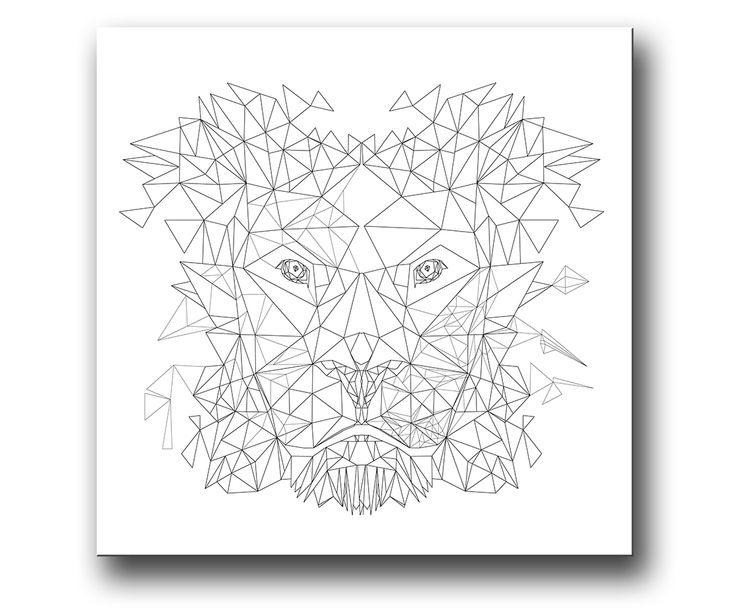"""""""Lejon"""" grafisk tavla / posters / affisch"""