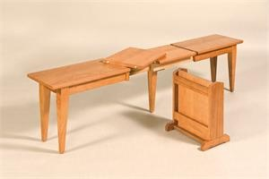 This Amish handcrafted Shaker Extend-A-Bench is the perfect option for adding seating for the holidays!